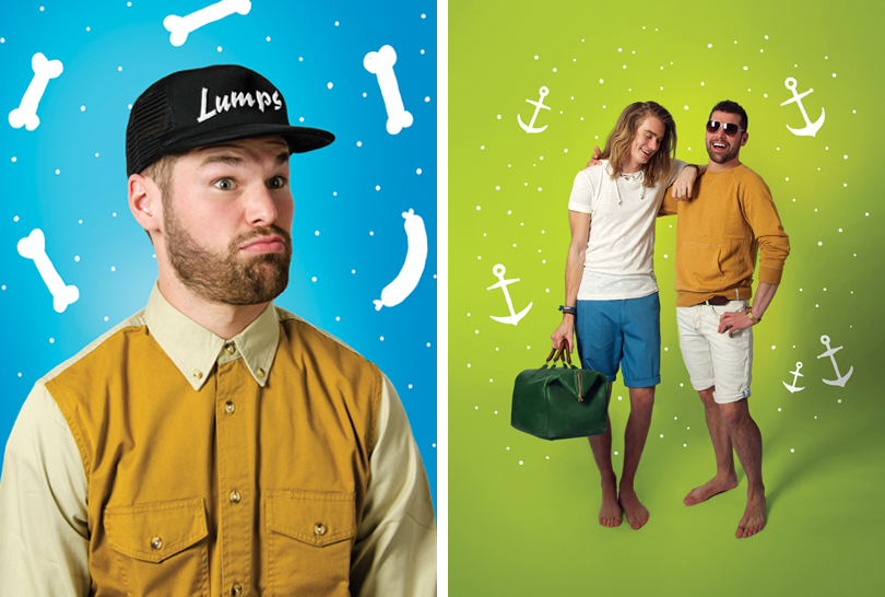 Jake and Finn, Beach, Adventure Time Fashion, Editorial, Real life Jake the Dog, Portraits