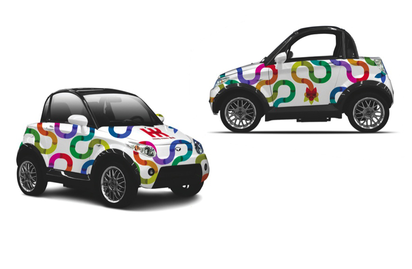 Hong Kong, used promote the vibrant city abroad, car wrap, Branding