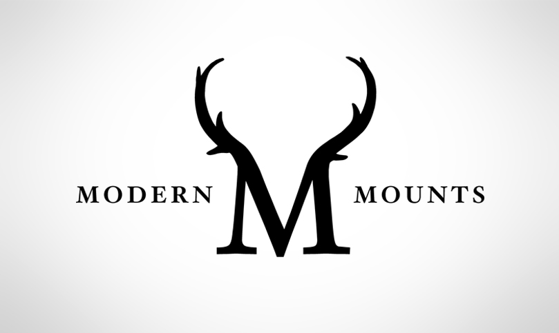 Modern Mounts, this isn't your uncle's taxidermy conference, logo, visual identity,