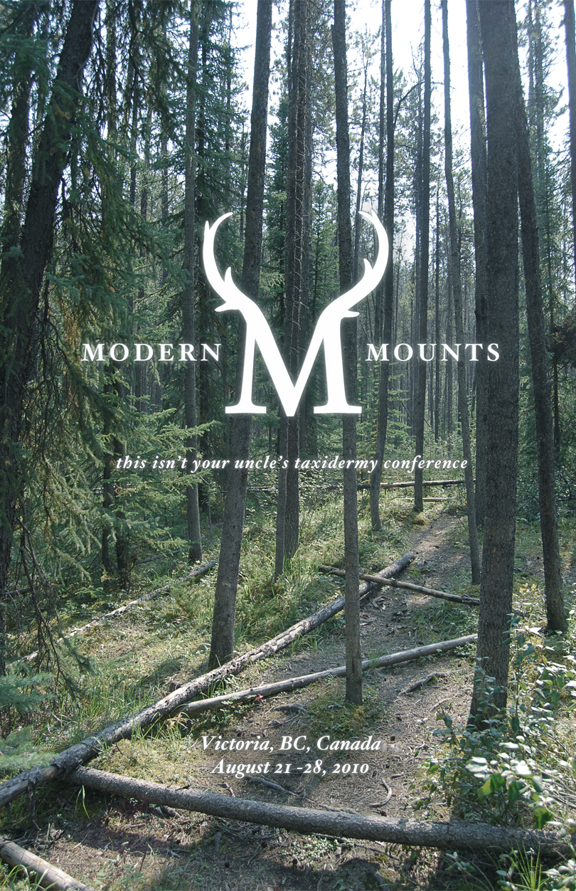 taxidermy, poster, forest, Victoria, British Columbia, modern mounts