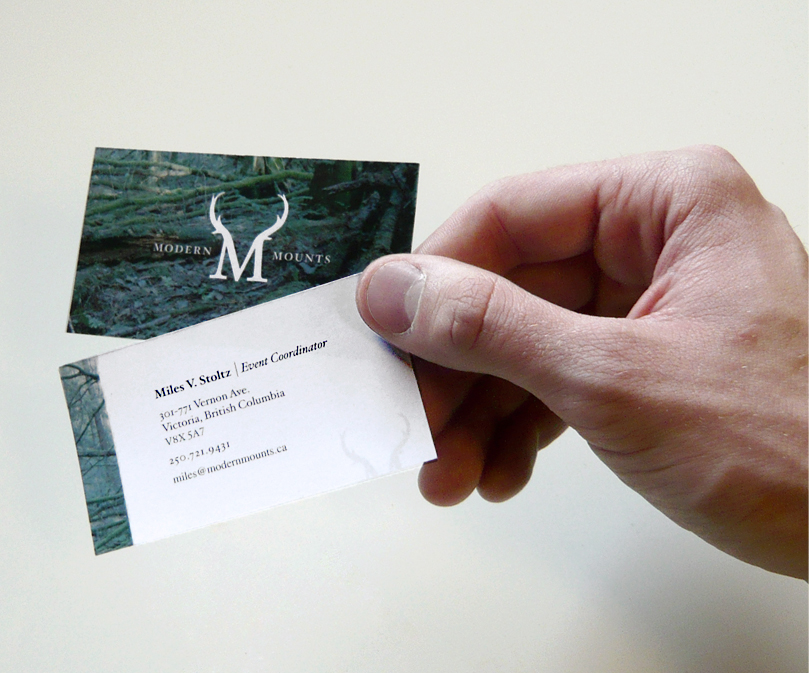taxidermy, business cards, card, emblem, modern mounts